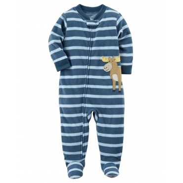 Adult - Red Bear Bottom Cotton Onesie Pjs