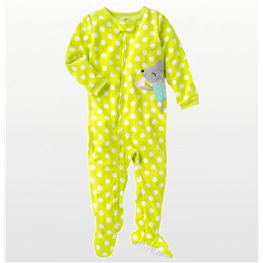 Adult - Blue Tail End Cotton Onesie Pj's