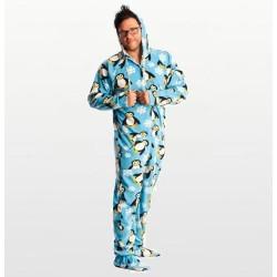 Carters – Boys Striped Monkey Microfleece Onesie Pyjamas