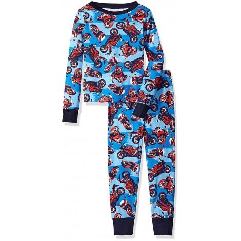 Boys - Happy Blue Motorbike Pyjamas - 100% Cotton
