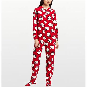 Hello Kitty - Red Footed Onesie for Teenagers