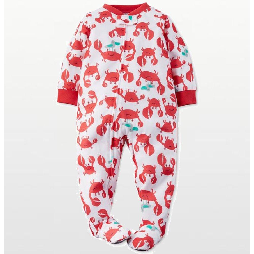 Carters -  Boys Cotton Crabbie Onesie Pyjamas