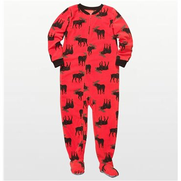 Carters -  Boys Orange Moose  Microfleece Onesie Pyjamas