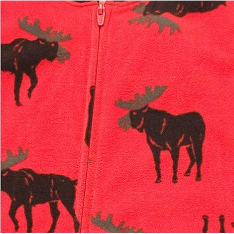 Carters - Microfleece Onesie Pyjamas - Orange Moose