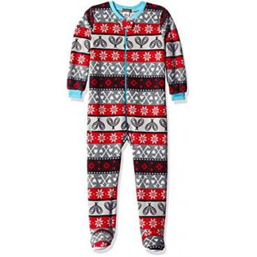 Petit Lem - Boys Sports Fleece Footed Onesie Pyjamas