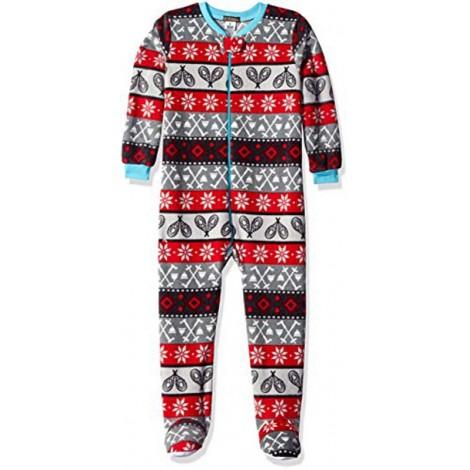 Petit Lem - Boys Sports Fleece Footed Onesie Pyjamas
