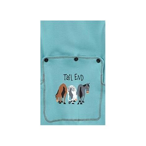 Babies - Blue Tail End Cotton Onesie Pj's