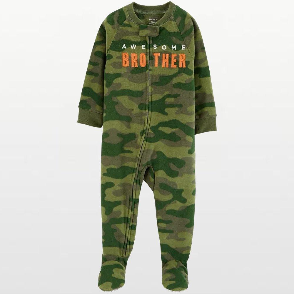 Carters - Boys Awesom Brother Microfleece Onesie Pyjamas