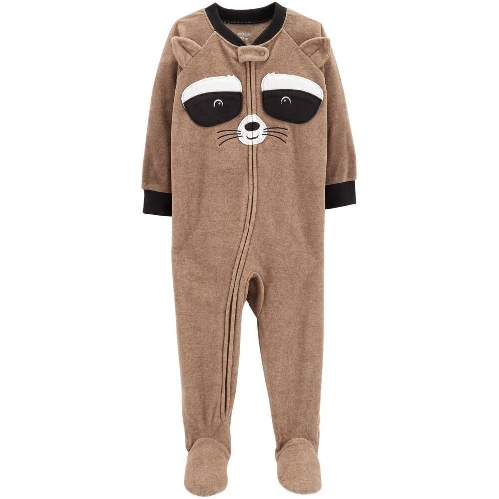Carters - Boys Brown Microfleece Onesie Pyjamas