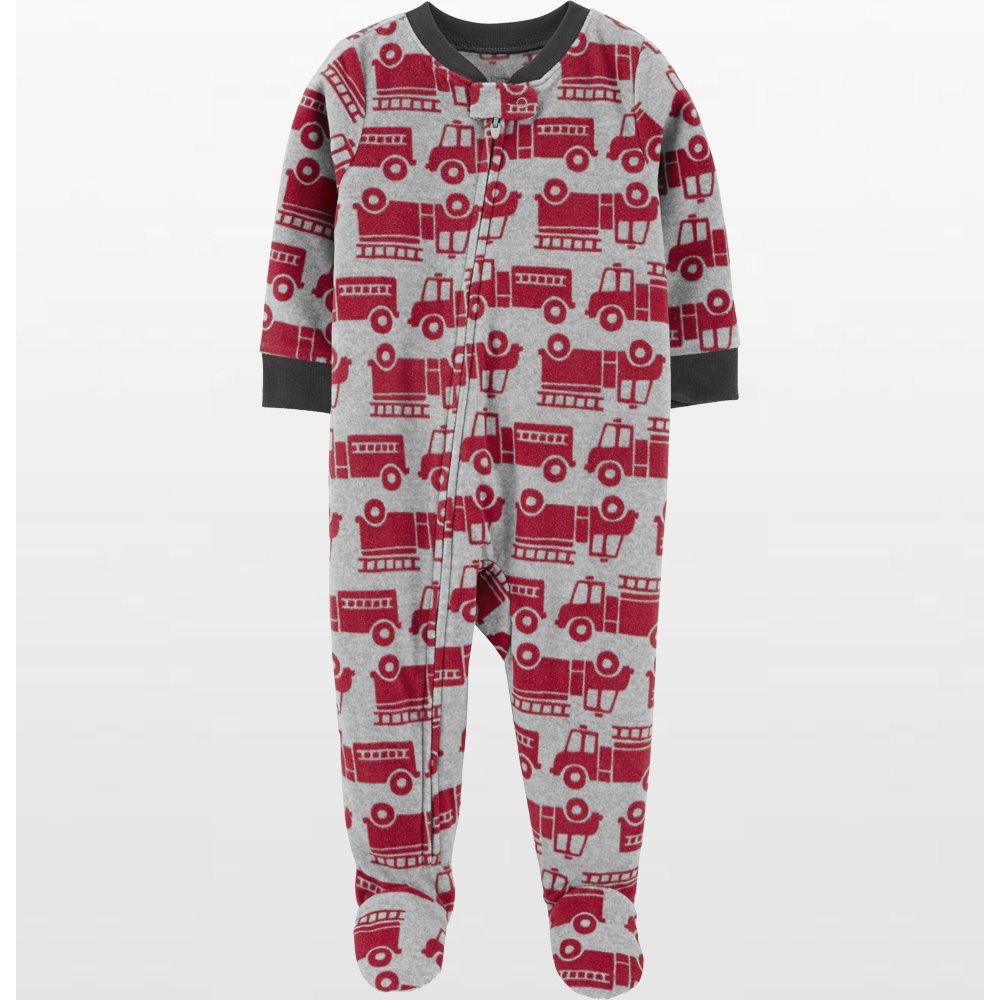 Carters - Boys Red Firetrucks Microfleece Onesie Pyjamas