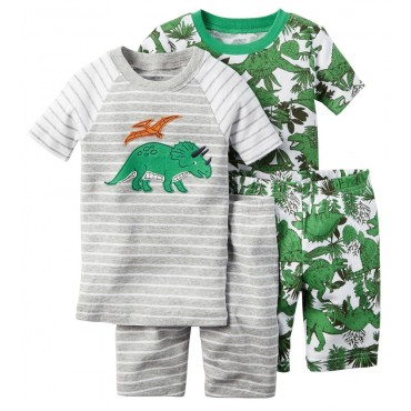 Carter's - Boys 4 piece Cotton Pjs - Dinosaur