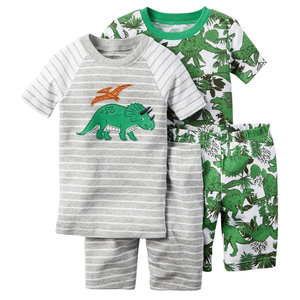 Carters - Boys 4 piece Cotton Pjs - Dinosaur