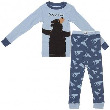 LazyOne - Boys Blue Bear Hug Pyjamas