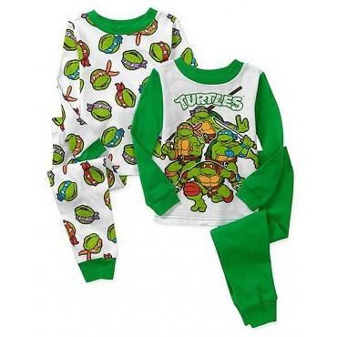 Boys - Teenage Mutant Ninja Turtle Pyjamas - 4 Piece Set