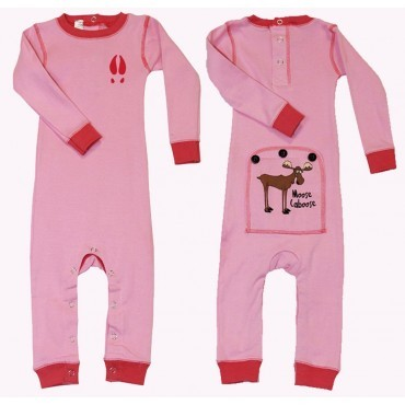 "Lazy One - Babies Pink  "" Moose Caboose"" Cotton Flapjack"