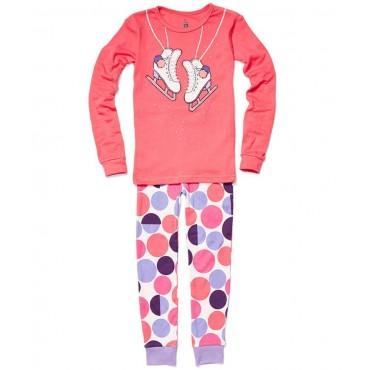 Petit Lem - Girls Pink Ice Skating Pyjamas