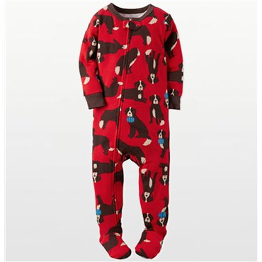 Carters - Boys Red Cotton St Bernard Onesie Pyjamas