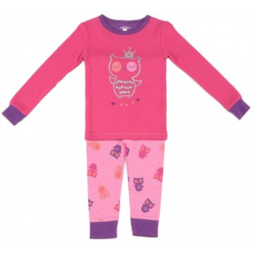 Petit Lem - Girls Fuschia Owls Pyjamas