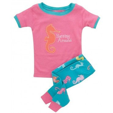 Hatley - Girls Sea Horsing Around Cotton Pyjamas
