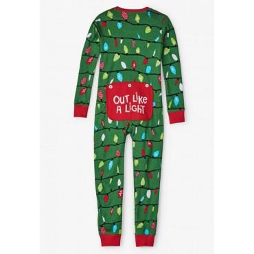 Cookie Monster Hooded Footless Fleece Onesie Pajama