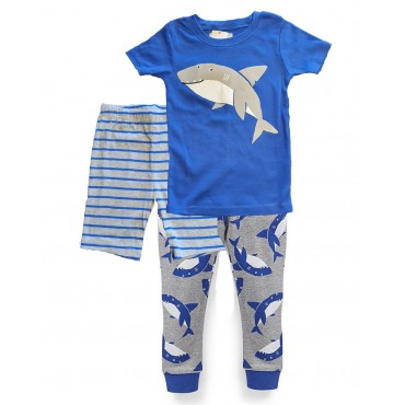 Carters - Boys 3 piece Cotton Pjs -  Shark Print
