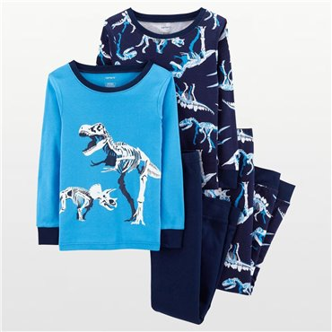 Carter's - Boys 4 piece Cotton Pjs - Dinosaur Print