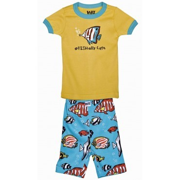 LazyOne - Boys Fish Ofishally Cute Pyjamas