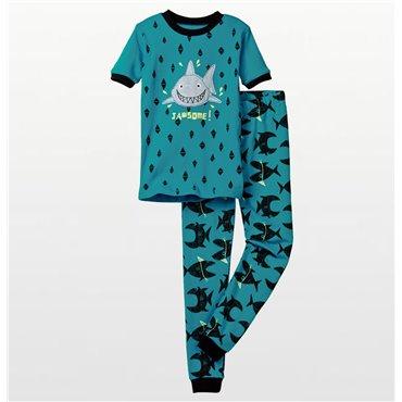 Petit Lem - Boys Little Sea Friends Jawsome Shark Pyjamas