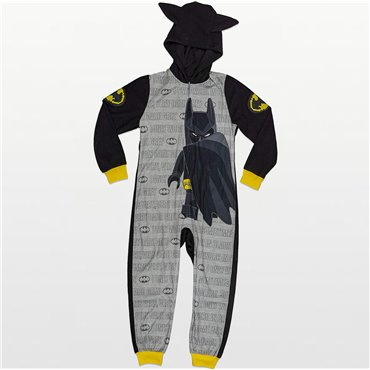 Boys - Lego Batman Hooded Footless Onesie