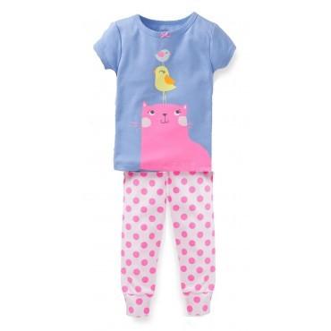 Carter's - 3 piece Cotton Pyjamas - Cat & Bird