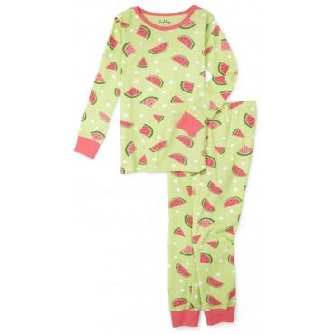 Hatley - Girls Cotton Pyjamas in Watermelon Slice Print