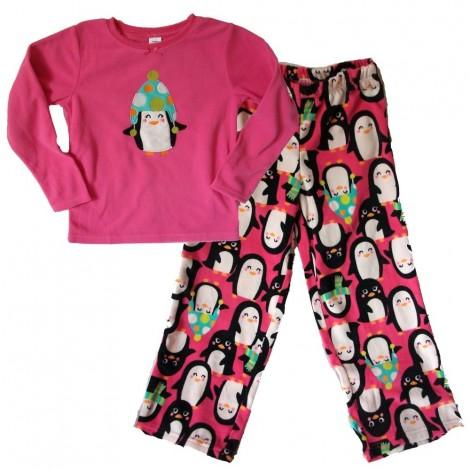 Carter's - Pink Penguin Fleece Pyjama Set