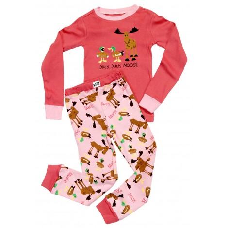 LazyOne - Pink Duck Duck Moose Pyjamas