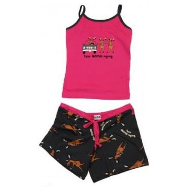 LazyOne - Girls Text Moose-Aging Tween Short Pyjamas