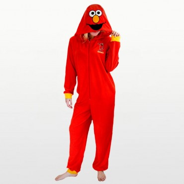 Sesame Street - Elmo Footless Fleece Onesie with Hood