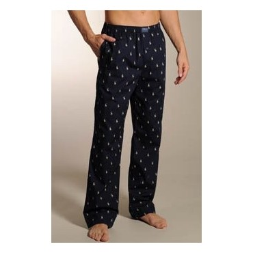 Ralph Lauren - Mens Navy Pyjama Pants with Dog Print