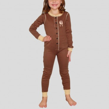 "Lazy One - Children's  Brown ""Moose Caboose"" Cotton Flapjack"