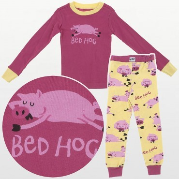 LazyOne - Girls Bed Hog Cotton Pyjamas