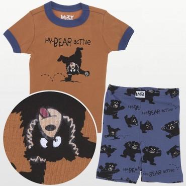LazyOne - Boys Hy-Bear Active Kids PJ Set