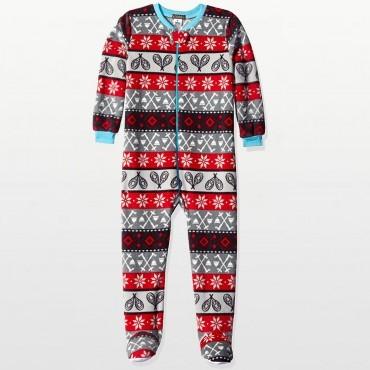 Petit Lem - Boys Fleece Footed Onesie Pyjamas