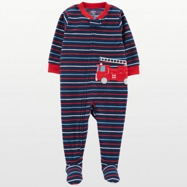Carters - Boys Striped Fire...