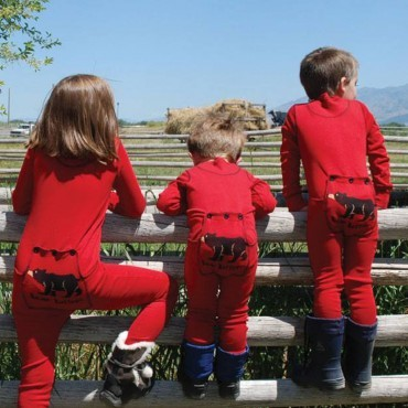 "Lazy One - Children's Red ""Bear Bottom"" Cotton Flapjack"