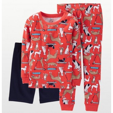Carters - Boys 3 piece Cotton Pjs - Dogs Print