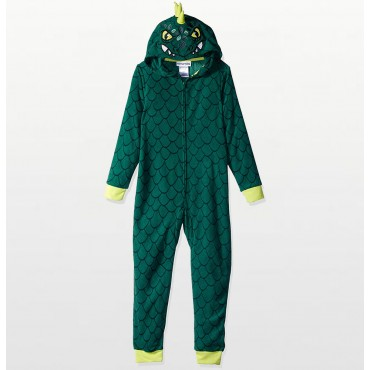 Fleece Footed Pyjamas Onesie - Multcolored Frogs