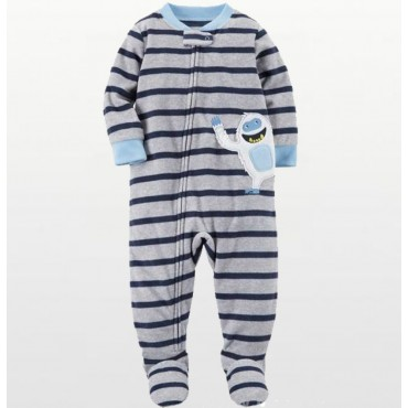 Carters - Boys Grey Striped...