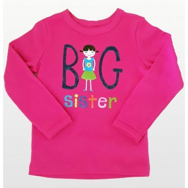 Carters - Pink Big Sister T shirt with  Long Sleeve