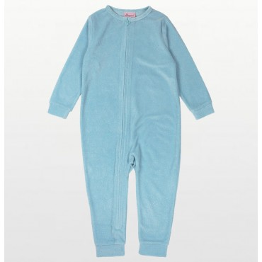 Sleepimini - Girls Aqua Glitter Footless Fleece Onesie