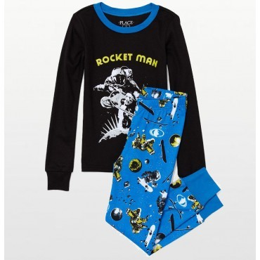 "Childrens Place - Boys Rocketman "" Glow in the Dark "" Pyjama Set"