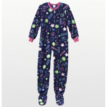 Bees & Jam Boys Fleece Onesie Footless - Football