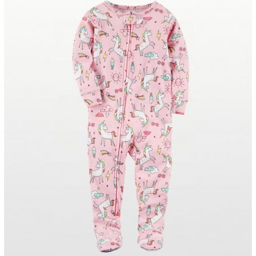 Carters - Girls Cotton Pink Unicorn Onesie